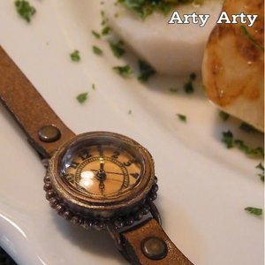 Arty Arty Japan ナンバー35真鍮腕時計 キャメル 約1ヶ月でのお届け|abracadabra