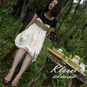 Kloset red carpet(クローゼットレッドカーペット) シルクローズドレス ベージュ|abracadabra