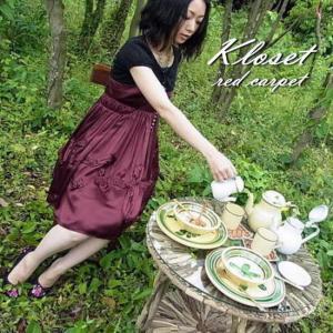 Kloset red carpet(クローゼットレッドカーペット) シルクローズドレス ボルドー|abracadabra