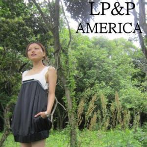 LP&P(エルピーアンドピー) リボンバルーンドレス ブラック|abracadabra