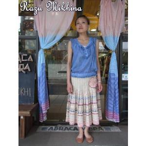 Razu Mikhina(ラズミヒナ) フラワーレースプリーツスカート|abracadabra