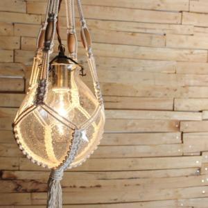 バブルガラス&マクラメハンギングランプ|abracadabra