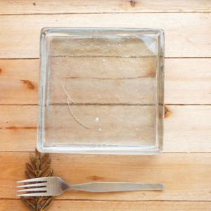 イランガラス角皿