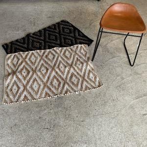ジュートニットさき織り玄関マット 60×90cm 全2種|abracadabra