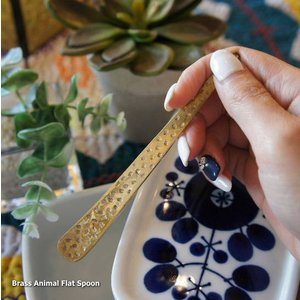 真鍮 アニマル柄フラットスプーン|abracadabra
