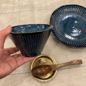 美濃焼 インディゴ十草 サラダボウル 13cm|abracadabra