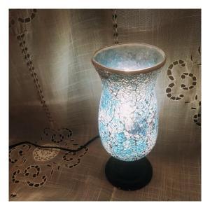 ミルグラス テーブルランプ フラワーポット/ブルー abracadabra