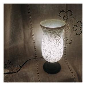 ミルグラス テーブルランプ フラワーポット/シルバー abracadabra