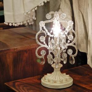 テーブルシャンデリア クリアホワイト|abracadabra