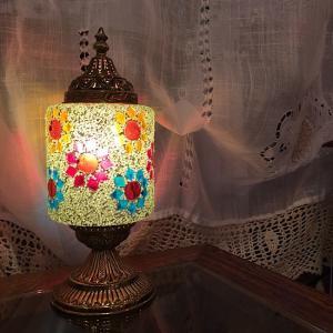モザイクスタンドランプ シリンダー|abracadabra