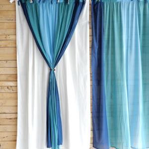 グラーデカーテン 100x180cm ブルー|abracadabra