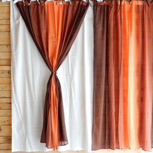 グラーデカーテン 100x180cm ブラウン|abracadabra