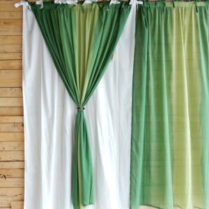 グラーデカーテン 100x180cm グリーン|abracadabra