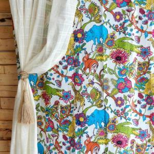 アースリーカーテン 100x180cm|abracadabra