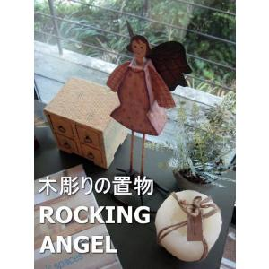 木彫りの置物 ROCKING ANGEL|abracadabra