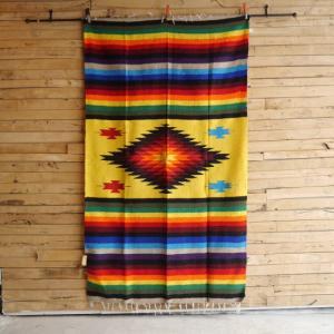 メキシカンラグ 130×220cm イエロー|abracadabra