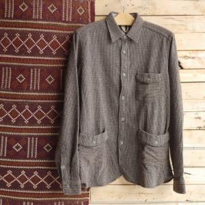 DNL Italy ウールシャツジャケット ブラウン|abracadabra