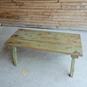 アンティーク チークウッドリビングテーブル