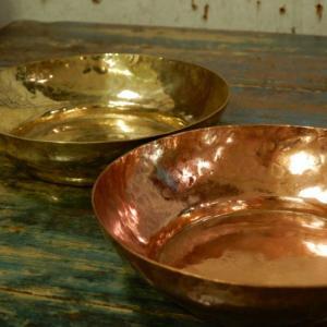 手打ち出し 真鍮と銅の茶托|abracadabra