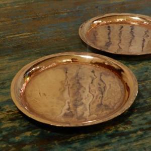 手打ち出し 銅の丸プレート|abracadabra