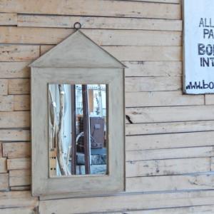 アンティーク お家の形のウォールミラー|abracadabra
