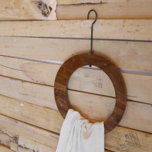 鉄と木の丸ハンガー|abracadabra