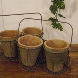 素焼きの鉢 ハンギングモスポット|abracadabra