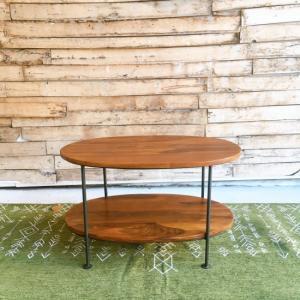 鉄と木のオーバルテーブル|abracadabra