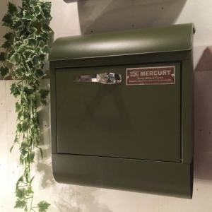 マーキュリー ハンドルロックメールボックス モスグリーン|abracadabra