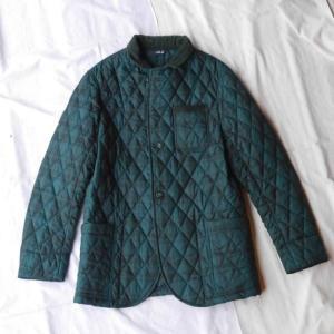 LOLO ロロ タータンチェックキルティングジャケット グリーン×ブラック|abracadabra