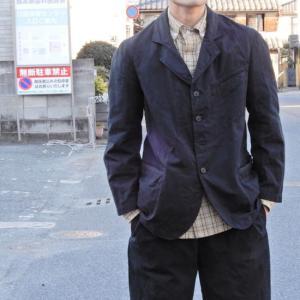 LOLO (ロロ)  綿麻 ビンテージジャケット ブラック|abracadabra