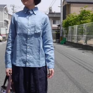 LOLO(ロロ) リネンボタンダウンシャツ ブルー LS-270|abracadabra