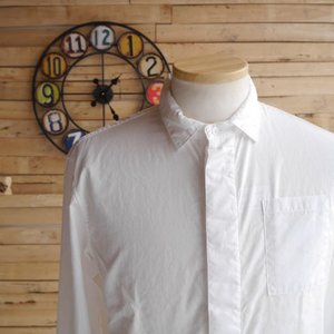 LOLO(ロロ) 100/2 ウエストダーツミニカラーシャツ ホワイト|abracadabra