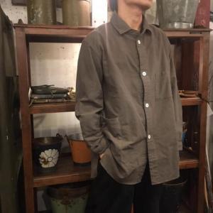 LOLO 綿ネル シャツジャケット チャコールグレー|abracadabra