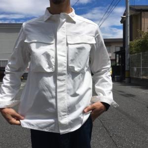 LOLO(ロロ) Wポケット&エルボーパッチ長袖シャツ オフホワイト|abracadabra