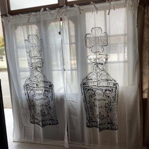 ヴィンテージスタイルカーテン 110x180cm パフューム|abracadabra