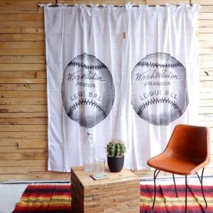 ヴィンテージスタイルカーテン 110x180cm ボール|abracadabra