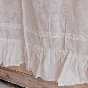レースプリントフリルカーテン 110×180cm|abracadabra