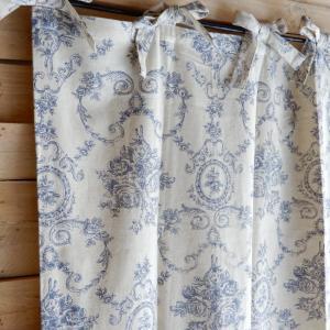 ローズブーケパーティションカーテン 110x200cm ブルー|abracadabra
