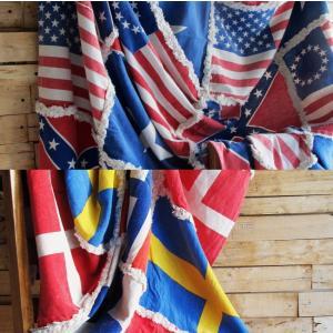 国旗柄マルチカバー 180×250cm(全2種) abracadabra