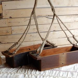 ジュート紐の吊るし木箱|abracadabra