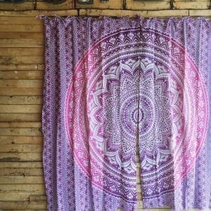 マンダラカーテン 100×180cm パープル|abracadabra
