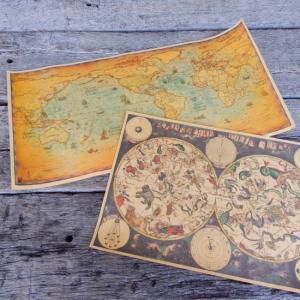 ノスタルジックマップポスター 全2種|abracadabra