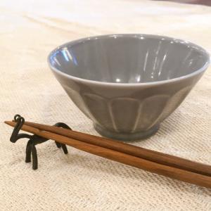 美濃焼 しのぎ柄茶碗L グレー|abracadabra