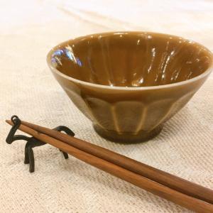 美濃焼 しのぎ柄茶碗L キャラメル|abracadabra