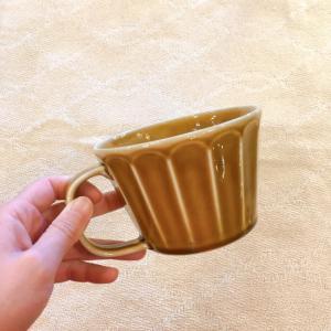 美濃焼 しのぎ柄スープカップ キャラメル|abracadabra