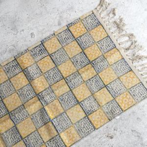 ウッドブロックプリント ロングマット 50x180cm 全11種|abracadabra