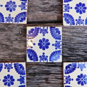 メキシコタイル ブルーフラワー abracadabra