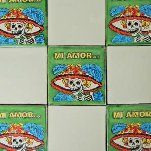 メキシコタイル カラベラ abracadabra