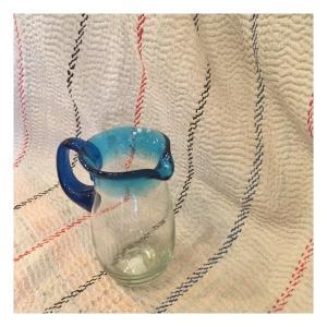メキシコ リサイクルガラス水差し ライトブルー|abracadabra
